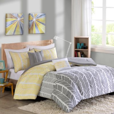 Intelligent Design Adel Twin/Twin XL Duvet Cover Set in Yellow