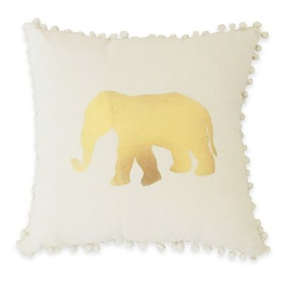Ernest Square Throw Pillow in Yellow