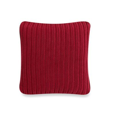 Studio 3B™ by Kyle Schuneman Hipster Hotel Rib Knit Square Throw Pillow in Wine