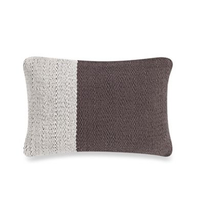 Studio 3B™ by Kyle Schuneman Hipster Hotel Color Block Oblong Throw Pillow in Grey/Ivory
