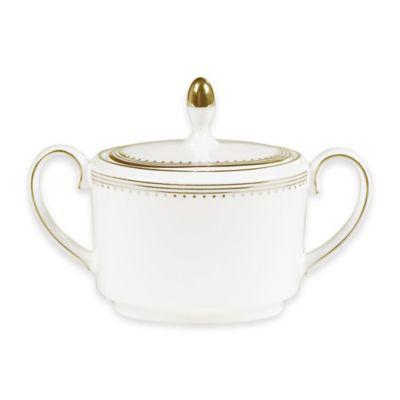 Vera Wang Wedgwood® Golden Grosgrain Sugar Bowl