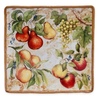 Certified International Capri 14.25-Inch Square Platter