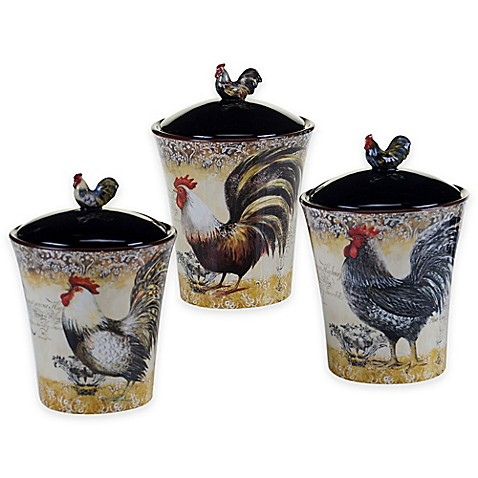 Buy Certified International Vintage Rooster 3 Piece
