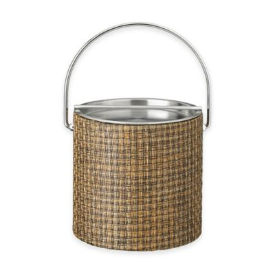Kraftware™ Woven Copper Ice Bucket with Metal Bar Lid