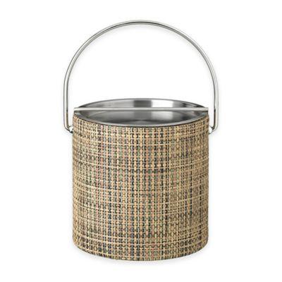 Kraftware™ Woven Desert Ice Bucket with Metal Bar Lid