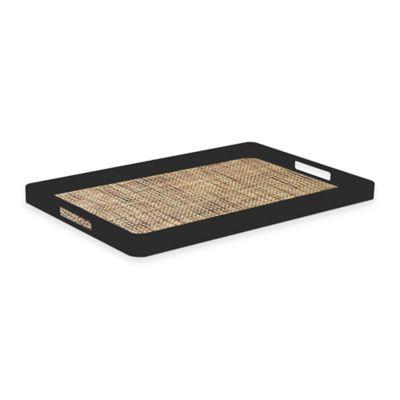 Kraftware™ Woven Desert Handled Serving Tray in Black