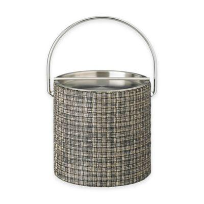 Kraftware™ Woven Onyx Ice Bucket with Metal Bar Lid