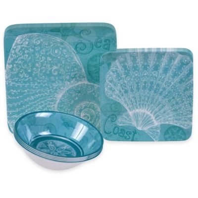 Certified International Aqua Treasures 12-Piece Dinnerware Set
