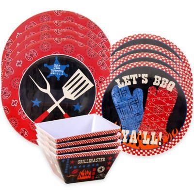 Certified International BBQ Bandit 12-Piece Dinnerware Set