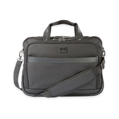 Latitude 40°N™ Freehold Check Point Friendly Laptop Briefcase in Black