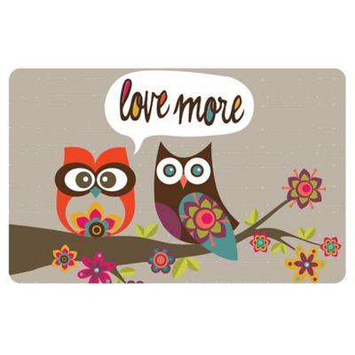 The Softer Side by Weather Guard™ 18-Inch x 27-Inch Love More Owls Kitchen Mat