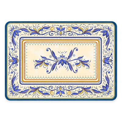 The Softer Side by Weather Guard™ 18-Inch x 27-Inch Verona Kitchen Mat in Blue
