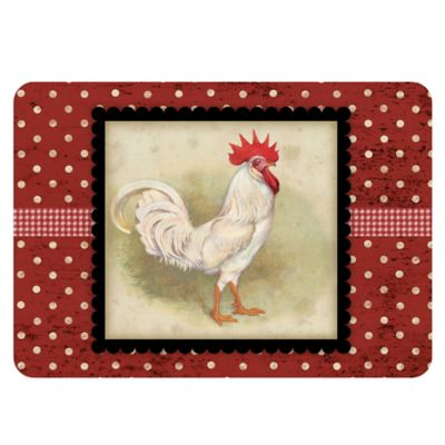The Softer Side by Weather Guard™ 18-Inch x 27-Inch White Rooster Kitchen Mat