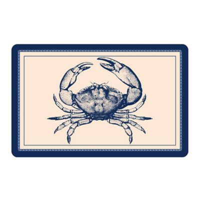 The Softer Side by Weather Guard™ Blue Crab Kitchen Mat