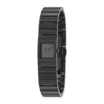 Issey Miyake Unisex 39mm V Watch by Tokujin Yoshioka in Black Stainless Steel