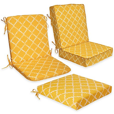 Enhance outdoor seat cushion collection in yellow bed for Outdoor furniture yellow