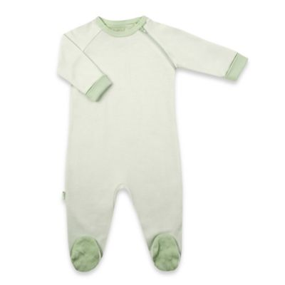Kushies Size 9M Everyday Striped Sleeper Footie in Green