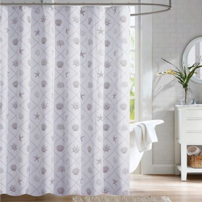 Coastal Trellis Shower Curtain