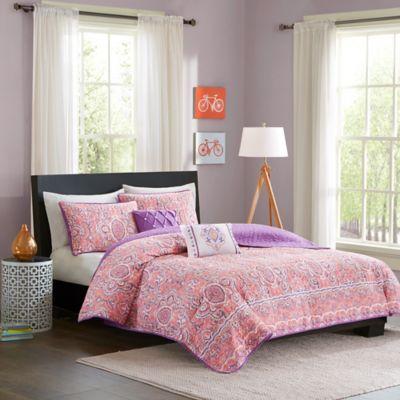Intelligent Design Stella 4-Piece Comforter Set in Pink
