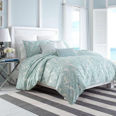 Nautica® Long Bay Full/Queen Duvet Cover in Aqua