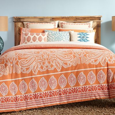 Trina Turk® Catalina Paisley King Comforter Set in Coral