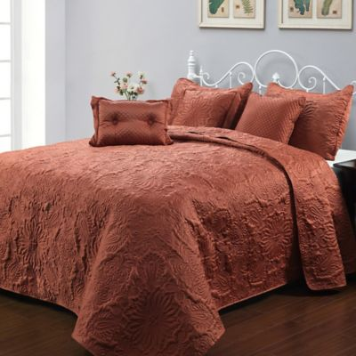 Parkley 6-Piece King Bedspread Set in Spice
