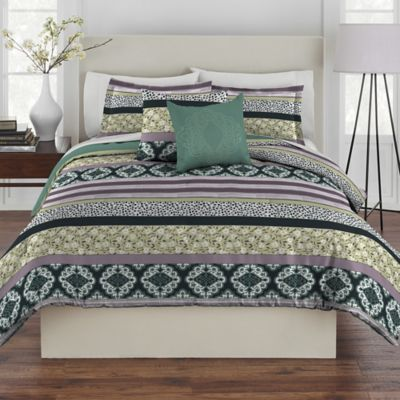 Rhapsody Ramona 4-Piece Twin Comforter Set in Blue/Green