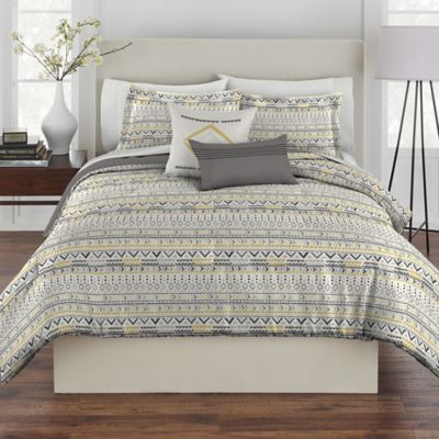 Grey and Yellow Comforter Sets