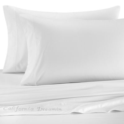 Cotton Sateen Sheet Set in White