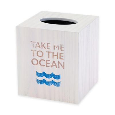 Avanti Beach Words Boutique Tissue Box Cover