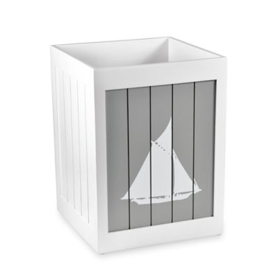 Grey Bath Wastebasket