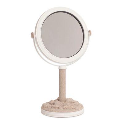 India Ink™ Depoe Bay Coastal Trellis Vanity Mirror in Taupe/White