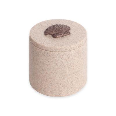 India Ink™ Coastal Trellis Small Covered Jar