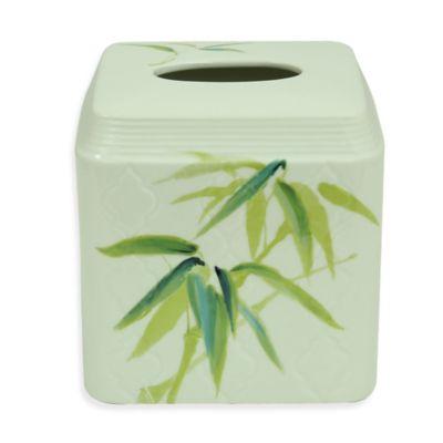 Bacova Zen Bamboo Boutique Tissue Box Cover
