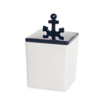 Lamont Home® India Ink™ Anchors Away Small Covered Jar