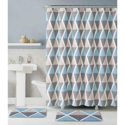 Le Croix 3-Piece Bath Set in Blue/Brown