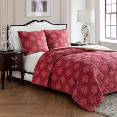 VCNY Jacquard Damask King Comforter Set in Blue