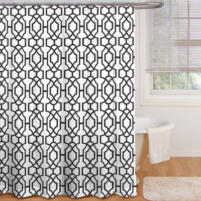 Black Bath Curtains