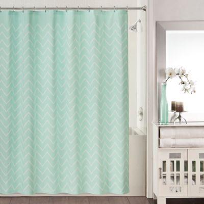 Blake Shower Curtain in Aqua
