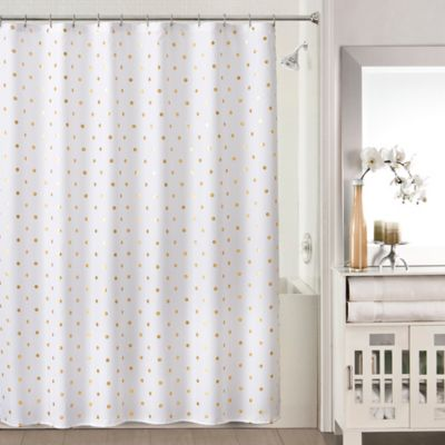 Sophia Shower Curtain in Gold/White