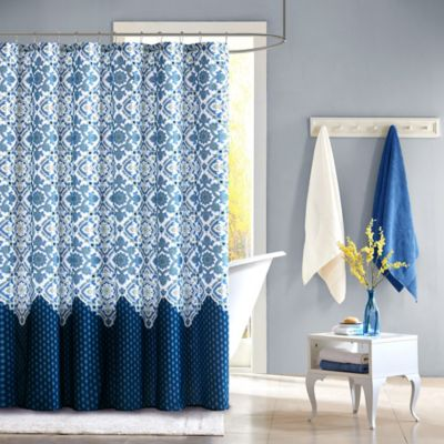 Intelligent Design Tia Shower Curtain in Blue