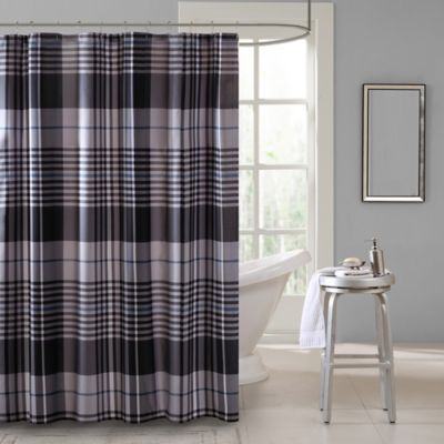 Intelligent Design Nathan Shower Curtain in Blue