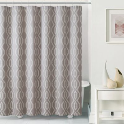 Gray Curtain and Hook Set