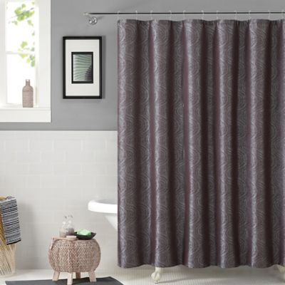 Solace Shower Curtain and Hook Set in Chocolate