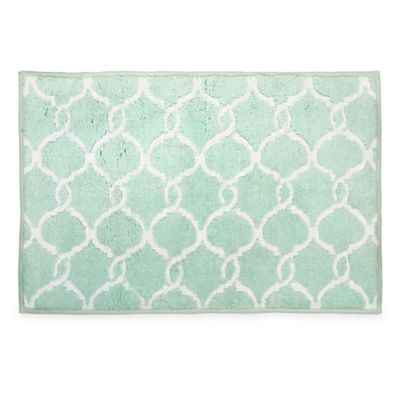 Langley Bath Rug in Mint