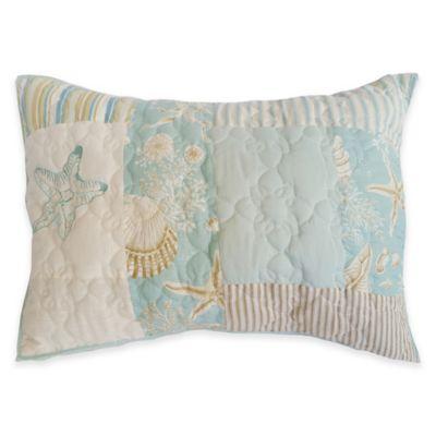 Sandbridge Beach House Standard Pillow Sham in Blue