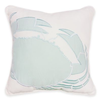 Sandbridge Beach House Square Throw Pillow in Blue