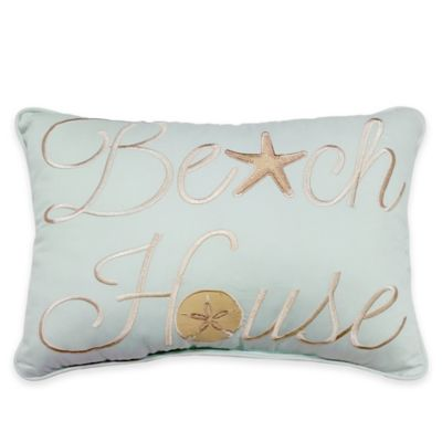 Sandbridge Beach House Oblong Throw Pillow in Blue