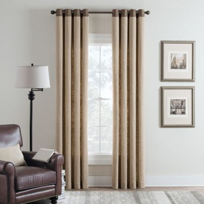 Malta Remix 108-Inch Grommet Top Window Curtain Panel in Parchment