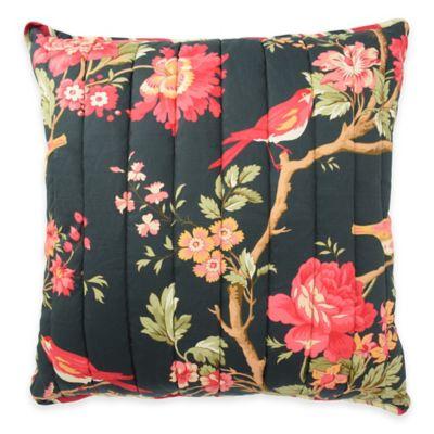 Waverly® Charleston Chirp Noir Reversible Square Throw Pillow